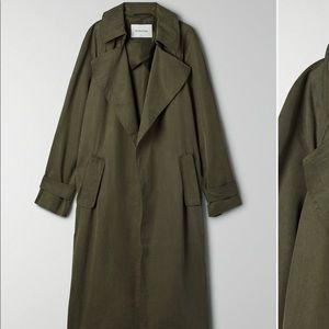 NWOT Babaton Aritzia Lawson Green Trench Coat